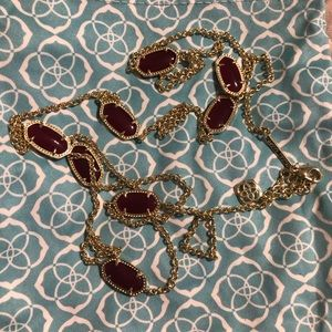 Maroon Kendra Scott Necklace